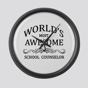 World's Most Awesome School Counselor Large Wall C